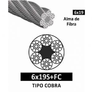 Cable de Acero con Alma de Fibra