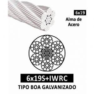 Cable de Acero Galvanizado 6×19