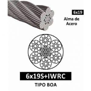 Cable de Acero Tipo Boa 6×19